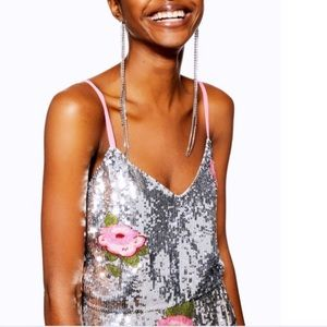 TOPSHOP | Beaded Floral Cami
